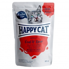 Happy Cat Adult Meat in Sauce Kapsička Teľa & Pečeň 85 g