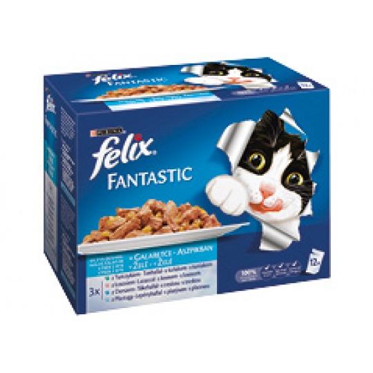 Felix Fantastic multipack Výber z rýb v želé  48 x 100 g