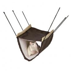 Závěsný pelíšek z nylonu s beránkem 2 podlažní-fretka,potkan