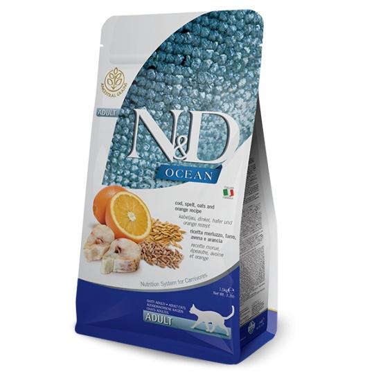 N&D Ocean CAT Adult Codfish & Orange 1,5 kg
