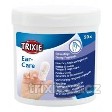 TRIXIE Jednorázové návleky na prst na čistenie uší 50 ks