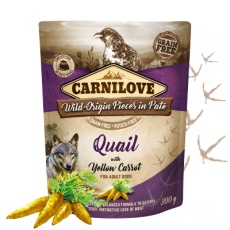 Carnilove Dog Pouch Paté Quail & Yellow Carrot 300g