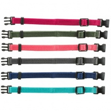 Balení nylon.rozeznávacích obojků pro štěňata M-L 22-35cm/10mm,fuchs,šedá,mod,khaki,korál,tyrkys