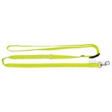 Svítící jogging vodítko USB S-XL 1,85-2,55m/25mm neon žlutá - DOPRODEJ (RP 2,10 Kč)