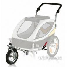Přední kolo a držadlo k vozíku 12805, konverze na běhání -