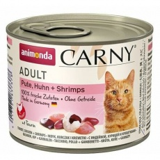 ANIMONDA konzerva CARNY Adult - krůta, kuře+ráčci 200g