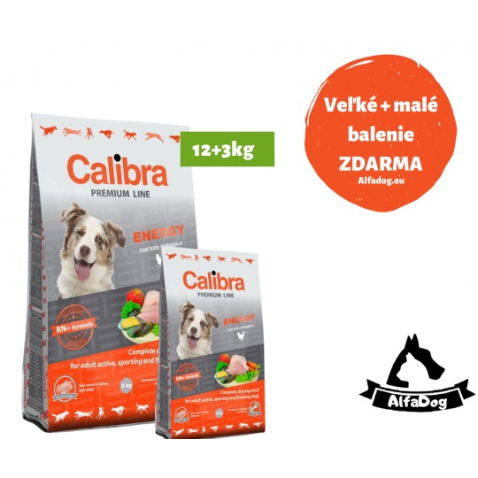 Calibra Premium  Energy 12 kg + 3 kg ZDARMA