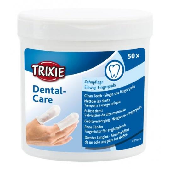 TRIXIE Zubná starostlivosť - jednorázové návleky na prst 50 ks