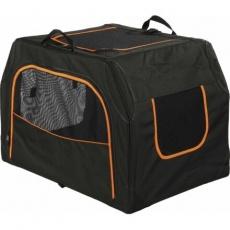 Transportní nylonový box Extend M 84x54x55 cm černo/oranžový - DOPRODEJ