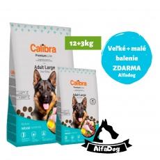 Calibra Dog Premium Line Adult Large 12 kg NEW + 3 kg