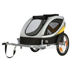 Trixie Vozík pre psa za bicykel L 58x57x85cm do 40 kg šedo/žlto/čierny
