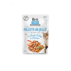 Brit Care Cat Pouch Tender Turkey & Shrimps in Jelly 85g