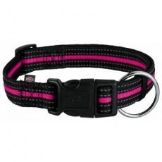 FUSION nylonový obojek - černo-růžový - DOPRODEJ