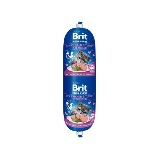 Brit Premium by Nature Meat Sausage Chicken & Turkey Sterilised 180g