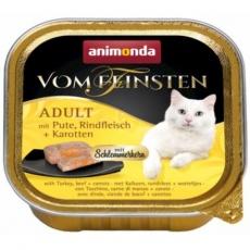 V.Feinsten CORE krůta, hovězí maso + mrkev pro kočky 100g