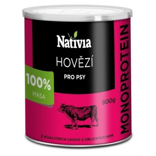 NATIVIA Konzerva Hovädzia svalovina 8 x 800 g