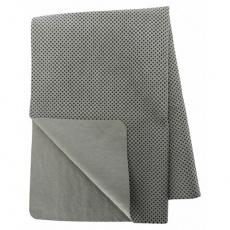 Ručník s vysokou absorbcí v plastovém obalu 66 x 43 cm šedá