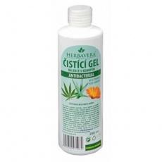 HERBAVERA antibakteriální čistící gel s konopím 250 ml