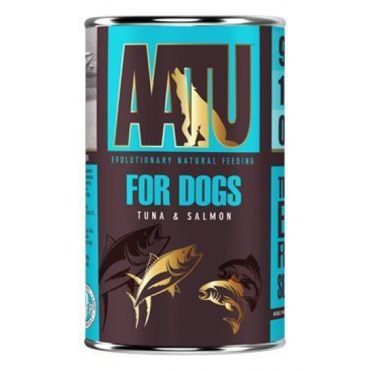 AATU Dog Tuna n Salmon konzerva 400 g