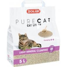 Podstielky PURECAT premium light clumping 5l Zolux