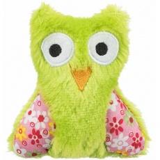 OWL, plyšová sova, hračka pro kočky s katnipem, 11cm