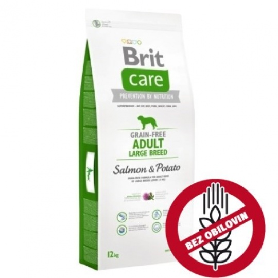 Brit Care Dog Grain-free Adult Large Breed Salmon & Potato 1 kg