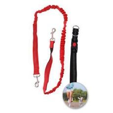 Vodítko elastické s obojkom pre behanie so psom 160-190cm x 2,5cm