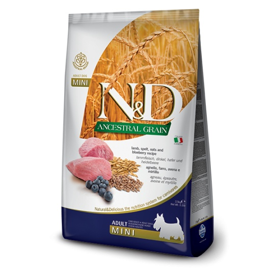 N&D Dog Low Grain Adult Mini Lamb & Blueberry 2,5kg