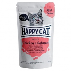 Happy Cat Adult Meat in Sauce Kapsička Kurča & Losos 0,85 g