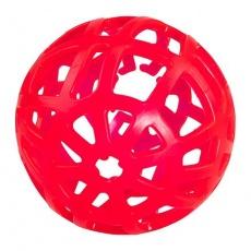 Barevný míč na pamlsky velký voňavý, tvrdá guma 15 cm