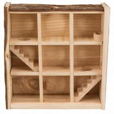 Natural Living věž/bludiště na hraní pro myši a zakrslé křečky, 3 poschodí 30x30x10 cm