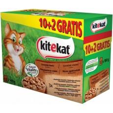KITEKAT Kapsička Cat Lovecké menu 12 x  100 g