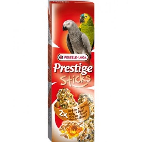 Versele Laga Prestige Sticks Parrots Exotic Fruit 2 ks Tyčinky pre  papagáje Exotické ovocie 140 g