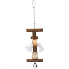 Natural Living - přírodní hračka pro ptáky se zvonkem 38 cm