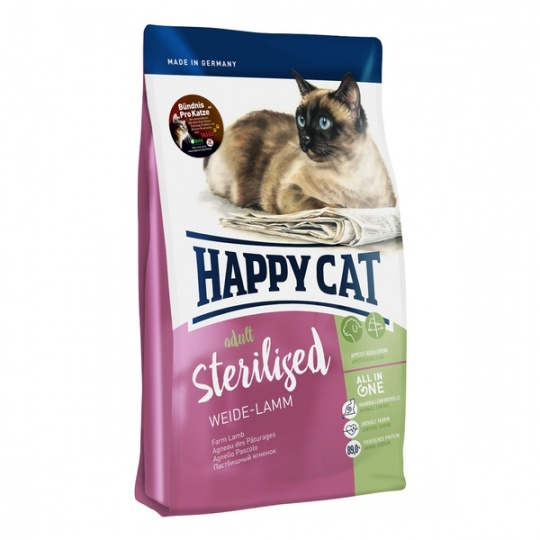 Happy Cat Adult Sterilised Weide-Lamm 10 kg  + DOPRAVA ZDARMA