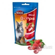 TRIXIE MINI dropsy jahodové pro morčata, králíky 75 g