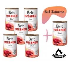 Brit konzerva Paté & Meat Beef 400 g