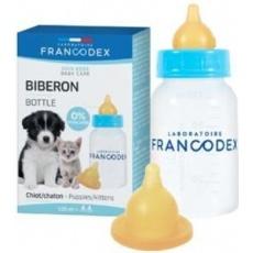 Francodex Fľaša pre kŕmenie šteniat a mačiatok 120ml
