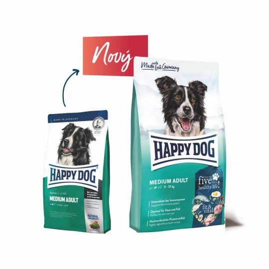Happy Dog Fit & Vital ADULT Medium 12,5 kg  + DOPRAVA ZDARMA