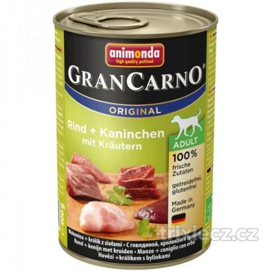 Animonda Gran Carno Adult Hovädzie & Králik & Bylinky 400 g