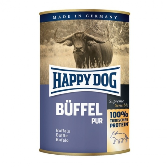 Happy Dog Konzerva Buffel Pur Byvolie mäso 200 g
