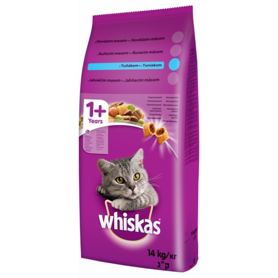 WHISKAS Adult s tuniakom 1,4 kg