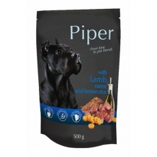 PIPER s jehněčím, mrkví a rýží, kapsička pro psy 500g