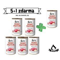 Brit konzerva Mono Protein Beef & Brown Rice 400 g