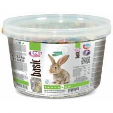 LOLO BASIC kompletní krmivo pro králíky 3 L, 2 kg kyblík