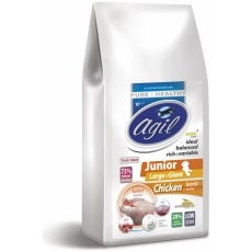 Agil Junior Large&Giant Low Grain Chicken, Lamb, 10kg