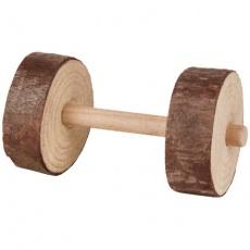 Dřevěné činky pro hlodavce 4,5x9 cm (2 ks)