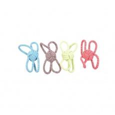 Hračka DUVO+ SCOOBY Lopta so 4 slučkami cverna mix farieb 25,5 cm