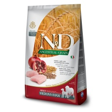 N&D Dog Low Grain Adult Medium & Maxi Chicken & Pomegranate 2,5 kg