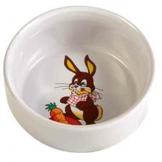 Keramická miska pro králíka s obrázkem 250 ml/11 cm - DOPRODEJ